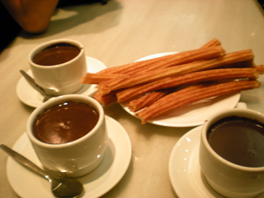 Yummy Chocolate and Churros!